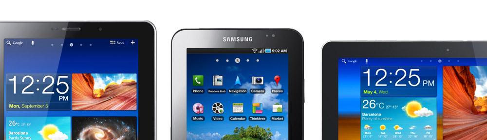 Allt om surfplattorna Samsung Galaxy Tab