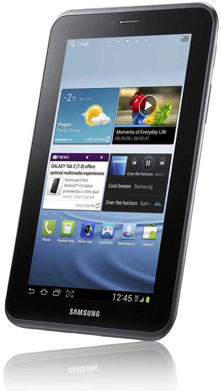 Samsung Galaxy Tab 2 ståendes
