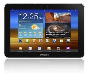 Samsung Galaxy Tab 8.9 LTE framsida
